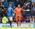 05.05.2019 Rangers v Hibs: Allan McGregor tells Ross McCrorie he is in goals