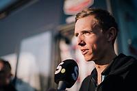 pre-race interview by Dylan Theuns (BEL/BMC)<br /> <br /> MEN ELITE ROAD RACE<br /> Kufstein to Innsbruck: 258.5 km<br /> <br /> UCI 2018 Road World Championships<br /> Innsbruck - Tirol / Austria