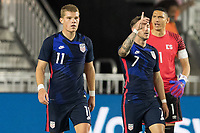 FORT LAUDERDALE, FL - DECEMBER 09: Paul Arriola #7 of the United States celebrates his goal during a game between El Salvador and USMNT at Inter Miami CF Stadium on December 09, 2020 in Fort Lauderdale, Florida.
