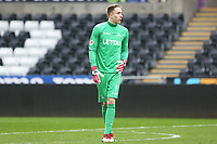 Sunday 18 March 2018<br /> Pictured:  Steven Benda of Swansea City<br /> Re: Swansea City v Manchester United U23s in the Premier League 2 at The Liberty Stadium on March 18, 2018 in Swansea, Wales.