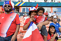 Houston, TX - Tuesday July 11, 2017: Costa Rican fans at the National Teams of Canada and Costa Rica game watching Group A action during a 2017 CONCACAF Gold Cup match played at BBVA Compass Stadium.