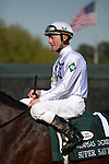 10 April 2010: Super Saver with jockey Calvin Borel placed in the 74th running of the Arkansas Derby at Oaklawn in Hot Springs, Arkansas