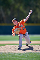 Baltimore Orioles pitcher Matt Trowbridge (70) delivers a pitch during a minor league Spring Training game against the Minnesota Twins on March 17, 2017 at the Buck O'Neil Baseball Complex in Sarasota, Florida.  (Mike Janes/Four Seam Images)