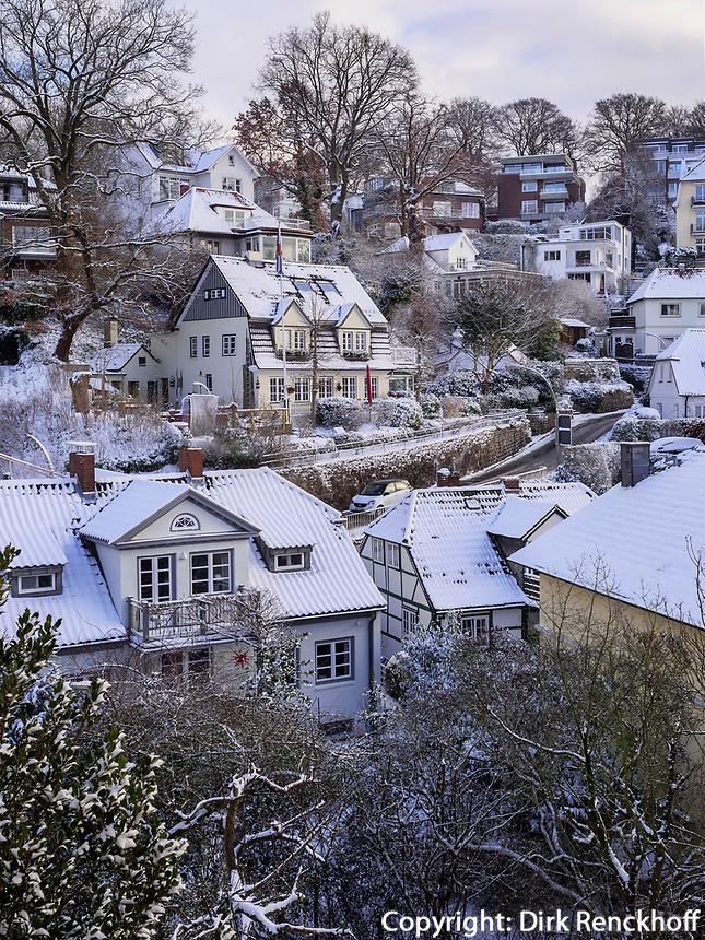 verschneites Treppenviertel in  Hamburg-Blankenese, Deutschland, Europa<br /> snow-covered Treppenviertel, Hamburg -Blankenese, Germany, Europe