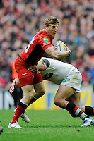 David Strettle of Saracens during the Aviva Premiership match between Saracens and Harlequins at Wembley Stadium on Saturday 31st March 2012 (Photo by Rob Munro)