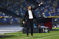 Simon Rozman coach of Rijeka HNK gestures<br /> during the Europa League Group Stage F football match between SSC Napoli and Rijeka HNK at stadio San Paolo in Napoli (Italy), November 26th, 2020.<br /> Photo Cesare Purini / Insidefoto