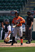 Baltimore Orioles Andrew Martinez (72) bats during a Minor League Spring Training game against the Detroit Tigers on April 14, 2021 at Joker Marchant Stadium in Lakeland, Florida.  (Mike Janes/Four Seam Images)