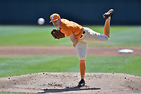 Tennessee Volunteers starting pitcher Zach Warren (23) delivers a pitch during a game against the South Carolina Gamecocks at Lindsey Nelson Stadium on March 18, 2017 in Knoxville, Tennessee. The Gamecocks defeated Volunteers 6-5. (Tony Farlow/Four Seam Images)