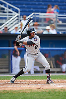 Tri-City ValleyCats right fielder Corey Julks (44) at bat during a game against the Batavia Muckdogs on July 16, 2017 at Dwyer Stadium in Batavia, New York.  Tri-City defeated Batavia 13-8.  (Mike Janes/Four Seam Images)