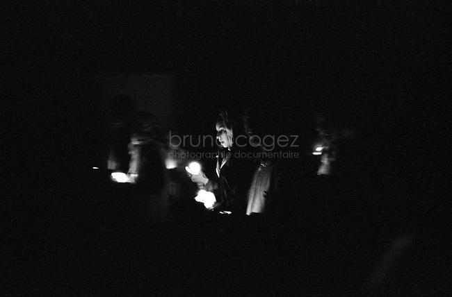 ROMANIA, Delta of Danube, Mila 23, April 2002..Easter celebration at the Lipoven church in Mila 23...ROUMANIE, Delta du Danube, Mila 23, Avril 2002..Célébration de Paques à l'église lipovène de Mila 23..© Bruno Cogez