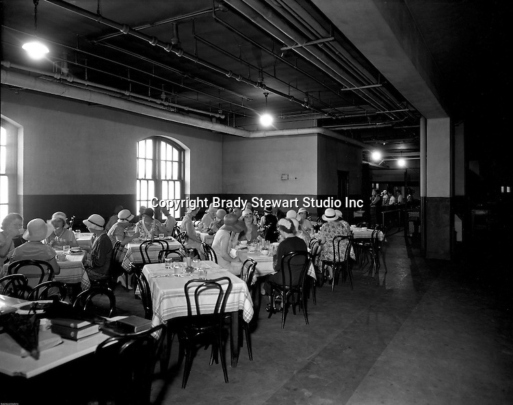 Pittsburgh PA:  Faculty and students having lunch at the Duquesne University cafeteria. <br /> Brady Stewart was hired to photography the campus, classrooms, and offices for a publication to increase enrollment at the Catholic University.