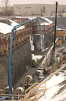 2004 file Photo, Montreal (Qc) Canada<br /> <br /> Construction of the new  Metro tunnel to  Laval<br /> <br /> Photo : (c) 2004 by Yves Provencher / images Distribution