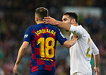 FC Barcelona's defense Jordi Alba  and Real Madrid CF's Dani Carvajal discuss during La Liga match. Mar 01, 2020. (ALTERPHOTOS/Manu R.B.)