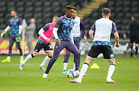 20th April 2021; Liberty Stadium, Swansea, Glamorgan, Wales; English Football League Championship Football, Swansea City versus Queens Park Rangers; Jamal Lowe of Swansea City during the warm up