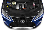 Car Stock 2021 Lexus RX 450h-F-SPORT 5 Door SUV Engine  high angle detail view