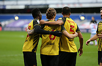 Ben Wilmot of Watford celebrates with his team mates ater scoring his goal during Queens Park Rangers vs Watford, Sky Bet EFL Championship Football at The Kiyan Prince Foundation Stadium on 21st November 2020
