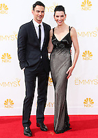 LOS ANGELES, CA, USA - AUGUST 25: Actress Julianna Margulies and Keith Lieberthal arrive at the 66th Annual Primetime Emmy Awards held at Nokia Theatre L.A. Live on August 25, 2014 in Los Angeles, California, United States. (Photo by Celebrity Monitor)
