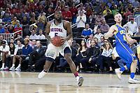 LAS VEGAS, NV - March 10, 2017: Arizona Wildcats Men's Basketball team vs. the UCLA Bruins.  Final Score: Arizona Wildcats 86, UCLA Bruins 75