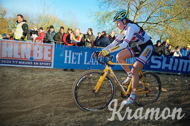 Nikki Harris (GBR)<br /> <br /> Vlaamse Duinencross Koksijde 2013