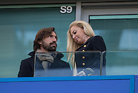 Andrea PIRLO and girlfriend Valentina Baldini before the EPL - Premier League match between Chelsea and West Bromwich Albion at Stamford Bridge, London, England on 11 December 2016. Photo by Andy Rowland.