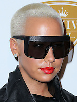 BEVERLY HILLS, CA, USA - OCTOBER 16: Amber Rose arrives at the XXIV Karat Launch Party held at the Beverly Hilton Hotel on October 16, 2014 in Beverly Hills, California, United States. (Photo by Xavier Collin/Celebrity Monitor)