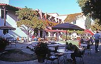 Santa Barbara CA: El Paseo--Patio Restaurant,  1922-23. James Osborne Craig, Mary Craig & Carleton M. Winslow. Photo 1983.
