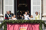 """New Kings of Spain Felipe VI and Letizia At The """"Royal Palace"""" with the Royal Family after being crowned king of Spain. Jun 19, 2014. (ALTERPHOTOS/Carlos Dafonte)"""