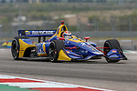 Andretti Autosport driver Alexander Rossi (27) of United States in action during the practice round at the Circuit of the Americas racetrack in Austin,Texas.