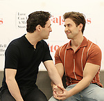 "Max von Essen and Nick Adams during the rehearsal performance of  ""Falsettos""  at the New Ripley Grier on January 25, 2019 in New York City."