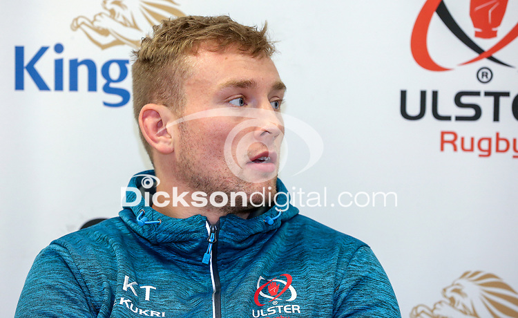 Tuesday 5th November 2019 | Ulster Rugby Match Briefing<br /> <br /> Kieran Treadwell at the Ulster Rugby Match Briefing held at Kingspan Stadium, Belfast, ahead of Ulster's away fixture against Munster at Thomond Park this Saturday. Photo - John Dickson / DICKSONDIGITAL. <br /> <br /> Photo by John Dickson / DICKSONDIGITAL