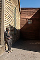 Spain - Andalusia - Rafael Aparicio García,  a 45 year old stuntman who has been featured in several western movies is standing in Fort Bravo set.