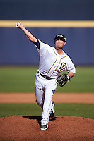Peoria Javelinas pitcher Jason Jester (36), of the San Diego Padres organization, during a game against the Mesa Solar Sox on October 19, 2016 at Peoria Stadium in Peoria, Arizona.  Peoria defeated Mesa 2-1.  (Mike Janes/Four Seam Images)
