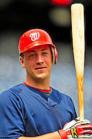 24 May 2009: Washington Nationals' rookie starting pitcher Jordan Zimmermann prepares to take batting practice prior to a game against the Baltimore Orioles at Nationals Park in Washington, DC. The Nationals rallied to defeat the Orioles 8-5 and salvage one win of their interleague series. Mandatory Credit: Ed Wolfstein Photo