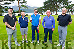 John O'Donoghue, Denis O'Donovan, Stuart Graham, Teddy O'Sullivan and Shane O'Driscoll members of the Killarney Golf & Fishing Club hosting their charity event for the Kerry Cancer Support Group & Irish Kidney Association (Kerry Branch) on Saturday.