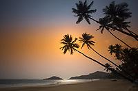 Goa coastline along the Arabian Sea, India.