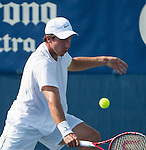 Igor Sijsling (NED) loses to Jack Sock (USA) 6-4, 6-2 at the CitiOpen 2013 in Washington, D.C., Washington, D.C.  District of Columbia on July 30, 2013.
