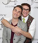 Jason Jacoby and Rick Lyon backstage at the 'Avenue Q' 15th Anniversary Reunion Concert at Feinstein's/54 Below on July 30, 2018 in New York City.