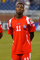 Panama midfielder Armando Cooper (11) before the CONCACAF soccer match between Panama and Guadeloupe at Ford Field Detroit, Michigan.