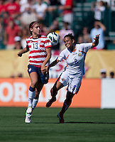 Alex Morgan, Daniela Cruz.  The USWNT defeated Costa Rica, 8-0, during a friendly match at Sahlen's Stadium in Rochester, NY.
