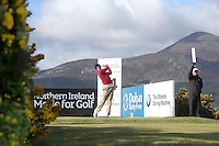 Thursday 28 May 2015; Danny Willett, England, tees up at the 14th<br /> <br /> Dubai Duty Free Irish Open Golf Championship 2015, Round 1 County Down Golf Club, Co. Down. Picture credit: John Dickson / SPORTSFILE