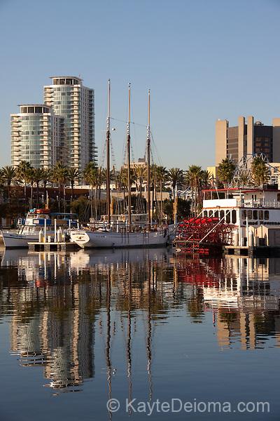 Shoreline Village at Rainbow Harbor in Downtown Long Beach, CA