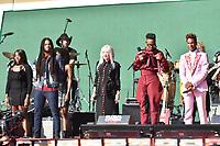 NEW YORK, NY- SEPTEMBER 25: Skip Marley, Cyndi Lauper, Billy Porter, Jon Batiste at the 2021 Global Citizen Live Festival at the Great Lawn in Central Park, New York City on September 25, 2021. Credit: John Palmer/MediaPunch