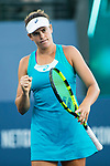 July 31, 2017: Jennifer Brady (USA) in action during her match against Maria Sharapova (RUS) at the Bank of the West Classic being played at the Taube Tennis Stadium in Stanford, California. ©Mal Taam/TennisClix/CSM