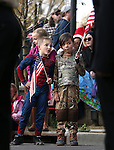 Blake Carter, left, and Charlie Godard, both 8, check out the Carson High School Naval JROTC entry in the annual Nevada Day parade in Carson City, Nev. on Saturday, Oct. 29, 2016. <br />Cathleen Allison/Las Vegas Review-Journal