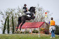 AUT-Rebecca Gerold rides Shannon Queen during the Cross Country. 2021 SUI-FEI European Eventing Championships - Avenches. Switzerland. Saturday 25 September 2021. Copyright Photo: Libby Law Photography