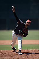 San Francisco Giants Black relief pitcher Norwith Gudino (67) delivers a pitch during an Extended Spring Training game against the Los Angeles Angels at the San Francisco Giants Training Complex on May 25, 2018 in Scottsdale, Arizona. (Zachary Lucy/Four Seam Images)