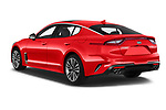 Car pictures of rear three quarter view of a 2019 KIA Stinger GT 5 Door Hatchback angular rear