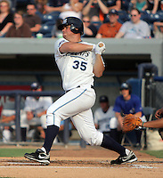 January 20, 2010:  Billy Nowlin of the West Michigan Whitecaps during a game at Fifth Third Ballpark in Comstock Park, FL.  The White Caps are the Low-A affiliate of the Detroit Tigers.  Photo By Emily Jones/Four Seam Images