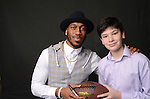 When New York Giants star receiver Rueben Randle made a special appearance at Ryan's Bar Mitzvah at Tappan Hill Mansion all the kids - and many adults - lined up for a photo.