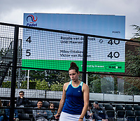 Rosmalen, Netherlands, 15 June, 2019, Tennis, Libema Open, NK Final Padel Mixed: Milou Ettekhoven (NED) and Victor Rutten (NED) scoreboard<br /> Photo: Henk Koster/tennisimages.com